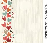 wedding invitation card with... | Shutterstock .eps vector #222509476