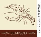 craw fish seafood vector  | Shutterstock .eps vector #222517906