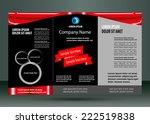 leaflet design layout | Shutterstock .eps vector #222519838