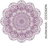 mandala. round ornament pattern....   Shutterstock .eps vector #222526696