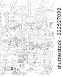 children vector coloring.... | Shutterstock .eps vector #222527092