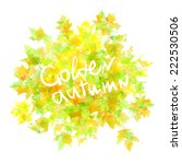 vector watercolor autumn leaves ... | Shutterstock .eps vector #222530506