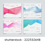 vector collection of tri fold... | Shutterstock .eps vector #222532648