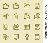 document web icons set | Shutterstock .eps vector #222540772