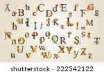 Hand Drawn Vintage Alphabet