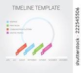timeline template | Shutterstock .eps vector #222545506