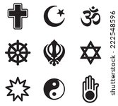 religion icons | Shutterstock .eps vector #222548596