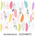 vector set of stylized or... | Shutterstock .eps vector #222548872