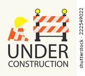 under construction concept in... | Shutterstock .eps vector #222549022