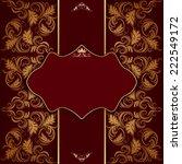 vector vintage elegant frame... | Shutterstock .eps vector #222549172