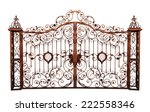old rusty gate. isolated on... | Shutterstock . vector #222558346