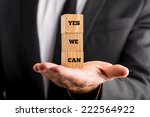 businessman showing yes we can... | Shutterstock . vector #222564922