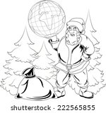 illustration of smiling santa... | Shutterstock .eps vector #222565855