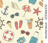 vector beach pattern for summer | Shutterstock .eps vector #222566152