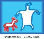 neon petroglyphs | Shutterstock . vector #222577306