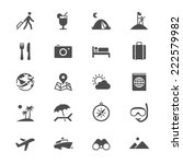 traveling flat icons | Shutterstock .eps vector #222579982