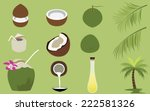 title  set of products of... | Shutterstock .eps vector #222581326