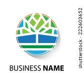 vector sign organic farming ... | Shutterstock .eps vector #222603652