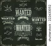 wanted vintage western banners...   Shutterstock .eps vector #222633052