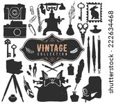 vintage retro old things... | Shutterstock .eps vector #222634468