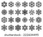set of snowflakes | Shutterstock .eps vector #222634495