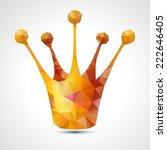 golden crown triangle symbol  ... | Shutterstock .eps vector #222646405