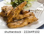 delicious chicken strips with a ... | Shutterstock . vector #222649102