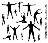 vector silhouettes of people... | Shutterstock .eps vector #222651028