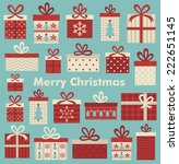 christmas card design. vector... | Shutterstock .eps vector #222651145