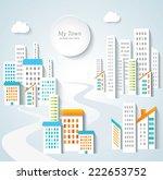 urban landscape.  | Shutterstock .eps vector #222653752