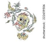 vector vintage graphic with bird | Shutterstock .eps vector #222659506