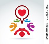 dialogue on love and health  ... | Shutterstock .eps vector #222662452