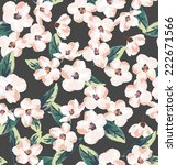 seamless tiny flowers vector... | Shutterstock .eps vector #222671566