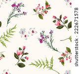 seamless floral branch vector... | Shutterstock .eps vector #222671578