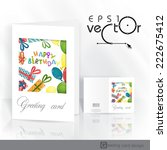 colorful birthday background.... | Shutterstock .eps vector #222675412