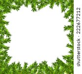 frame made with spruce twigs... | Shutterstock . vector #222677212