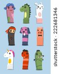 puppets made of socks set with... | Shutterstock .eps vector #222681346