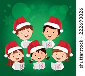 merry christmas songs. children ... | Shutterstock .eps vector #222693826