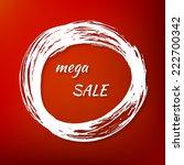 banner mega sale in... | Shutterstock .eps vector #222700342
