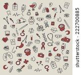 medicine icons doodle | Shutterstock . vector #222700885