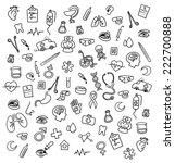 medicine icons doodle | Shutterstock . vector #222700888