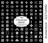 Ornamental elements for design and page decoration - Isolated On Black Background