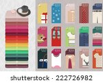 set of clothes cards  and... | Shutterstock .eps vector #222726982