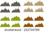 vector pack of various... | Shutterstock .eps vector #222734785