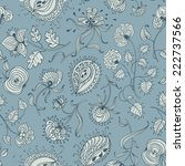 floral seamless pattern | Shutterstock .eps vector #222737566