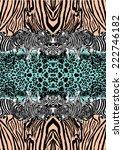 zebra and leopard print in... | Shutterstock .eps vector #222746182