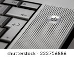 Closeup Up Of Silver Computer...