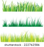 backgrounds of green grass ... | Shutterstock .eps vector #222762586