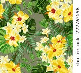 seamless exotic pattern with... | Shutterstock .eps vector #222762598