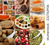 collage of different spices | Shutterstock . vector #222763936
